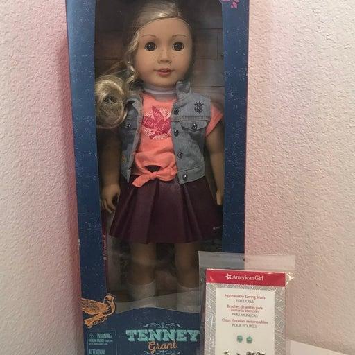 American Girl Tenney doll ears pierced