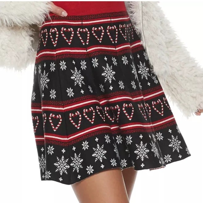 Ugly Christmas Sweater Skirt Black XL