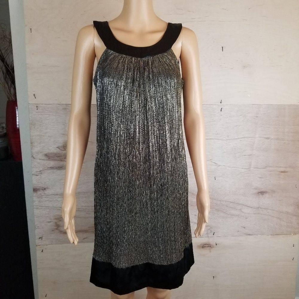 Enfocus Black Gold Silver Shimmery Dress
