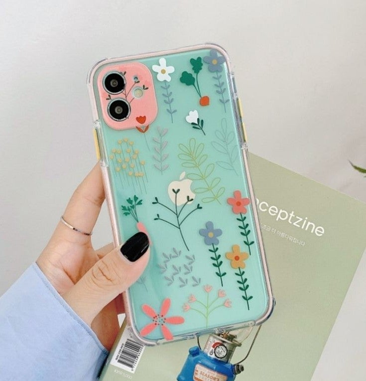 Iphone 12 case Floral Clear Shockproof