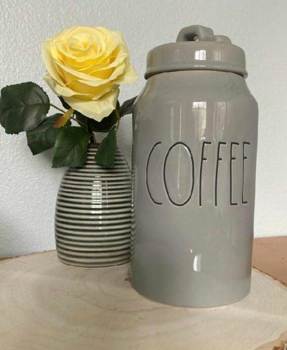 Rae Dunn Coffee Gray Canister