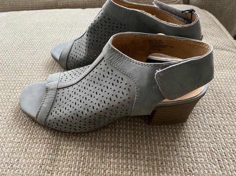 Gray NWT Sonoma  peep toe booties