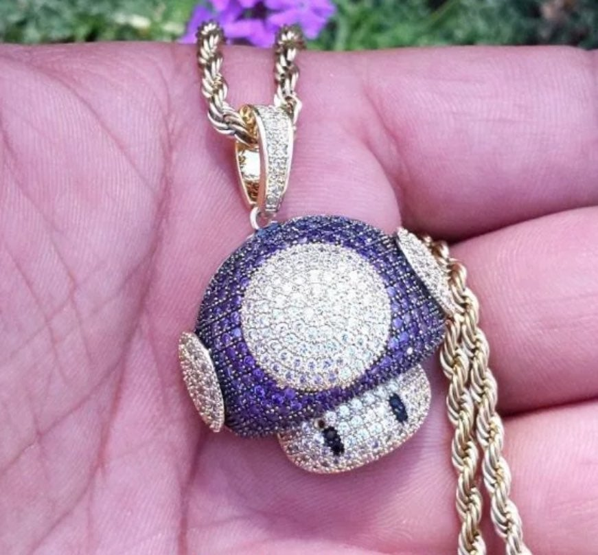 Toad Pendant (iced out)
