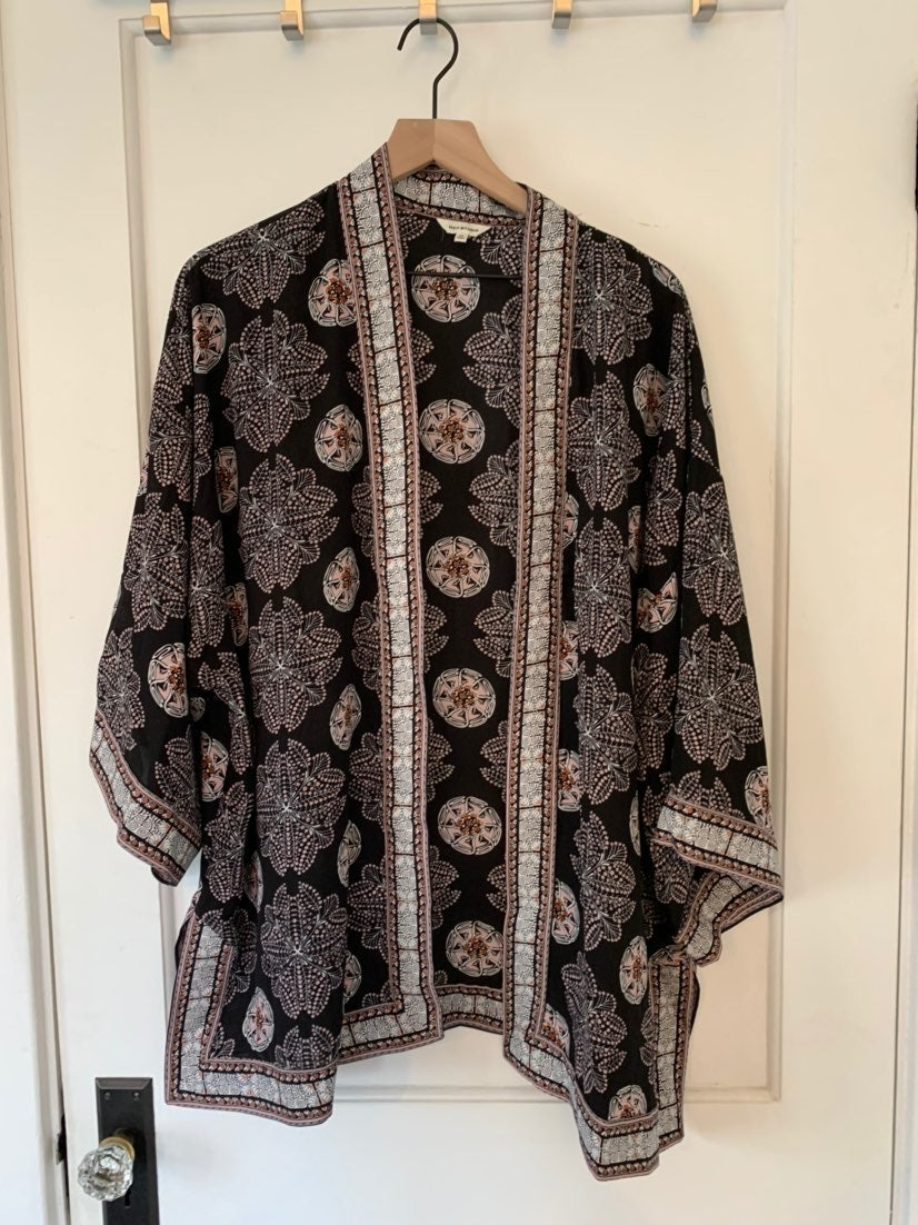 Max Studio Kimono floral size 1X