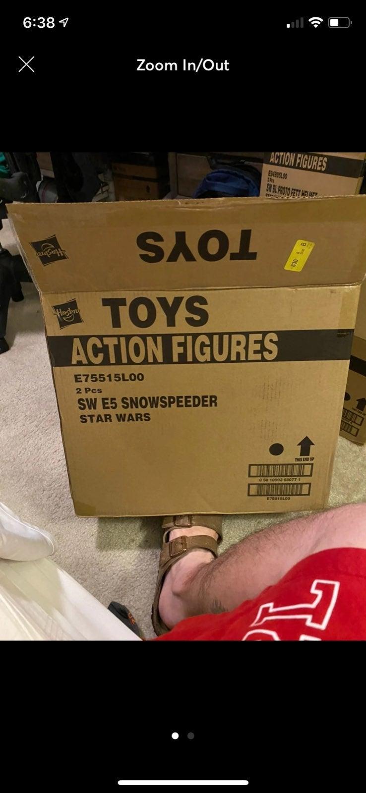 Star Wars black series snowspeeder