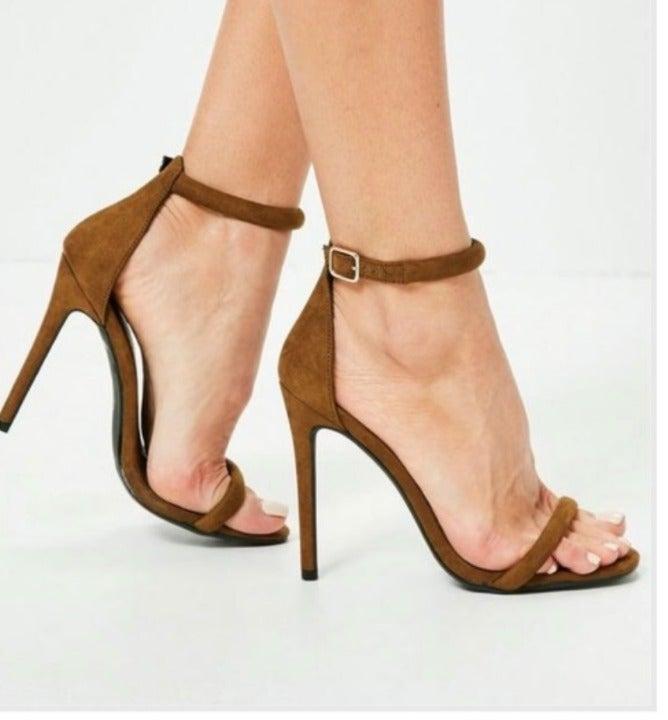 Heeled sandals ankle strap