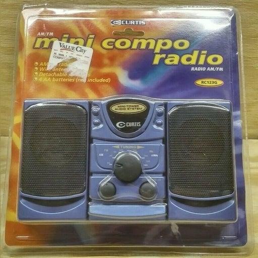 Curtis Mini Compact Portable AM FM Radio