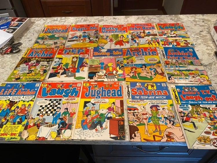 Vintage archie comic books