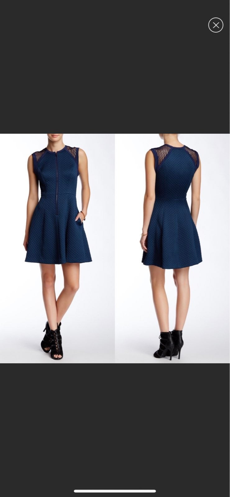 Rebecca Taylor Quilted Zip Front Dress
