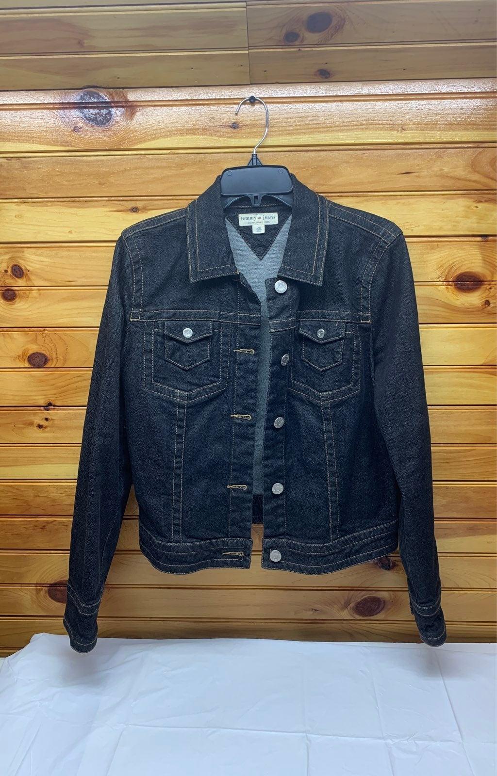 black tommy hilfiger denim jacket