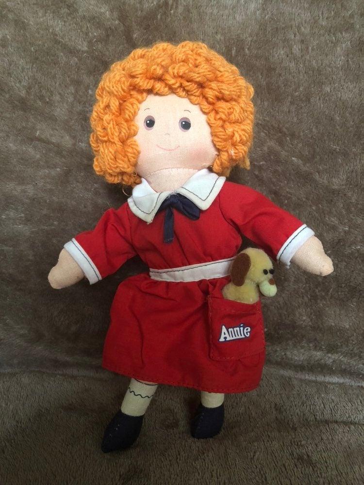 Vintage Little Orphan Annie & Sandy Doll
