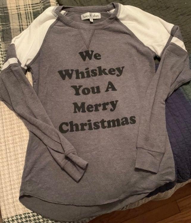 Whiskey Christmas shirt