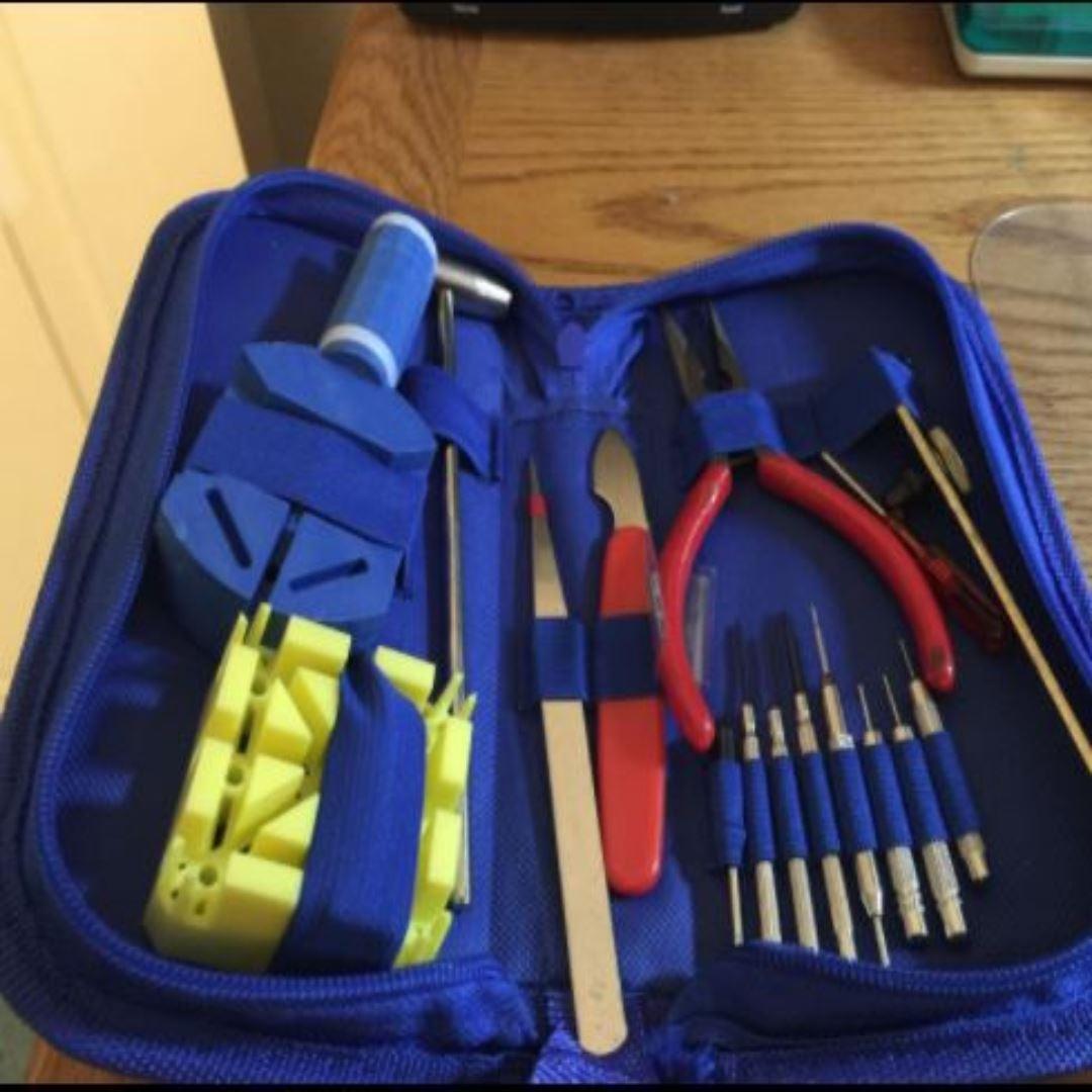 16pcs Watch Repair Tool Kit Link Remover