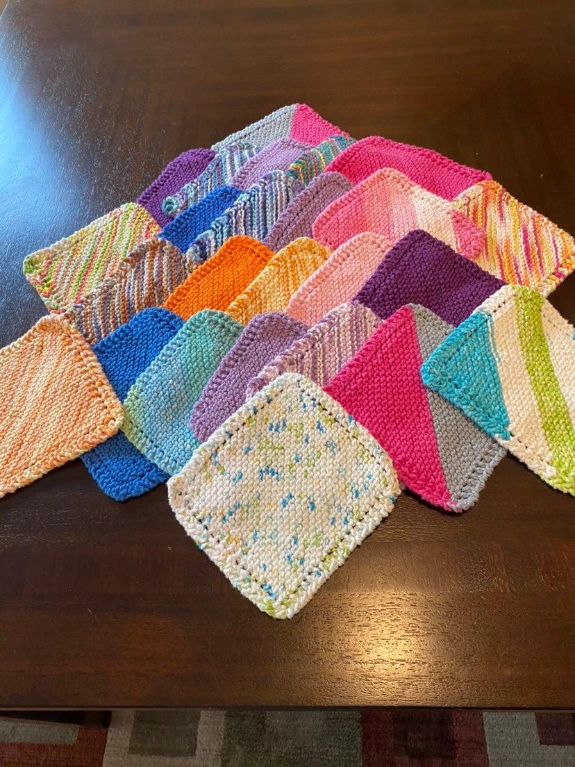 25 Homemade Knitted Dishcloths