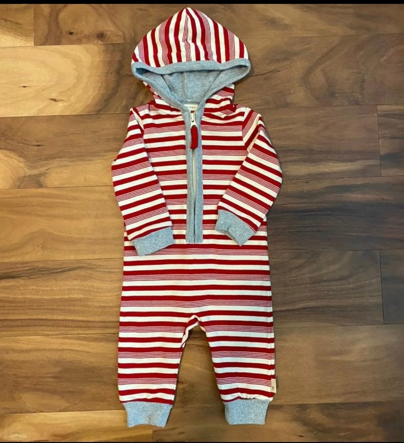 Burts Bees Candy Cane Striped Jumpsuit