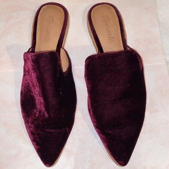 MadeWell Velvet Mules Size 8