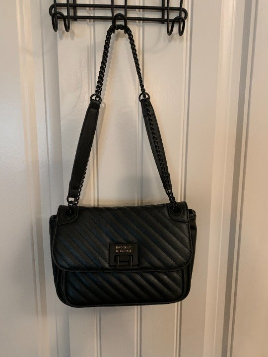 Badgley Mischka Black Vegan Leather bag