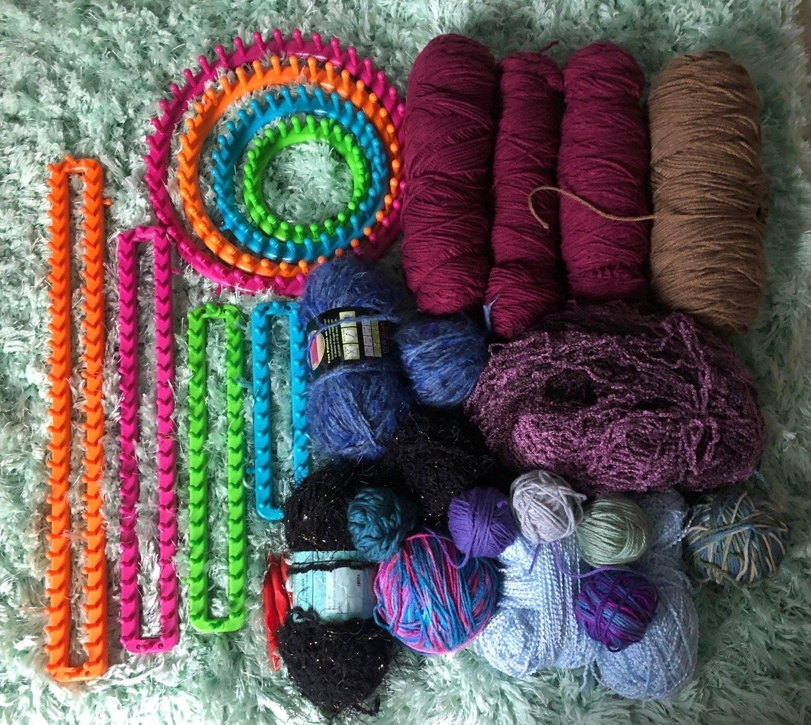 Knitting Looms and Yarn