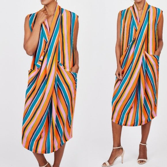 DUBGEE By Whoopi Long Overlap Dress