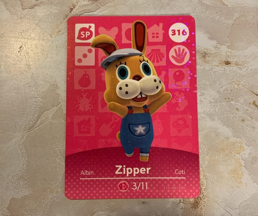 Animal Crossing Zipper Amiibo Card