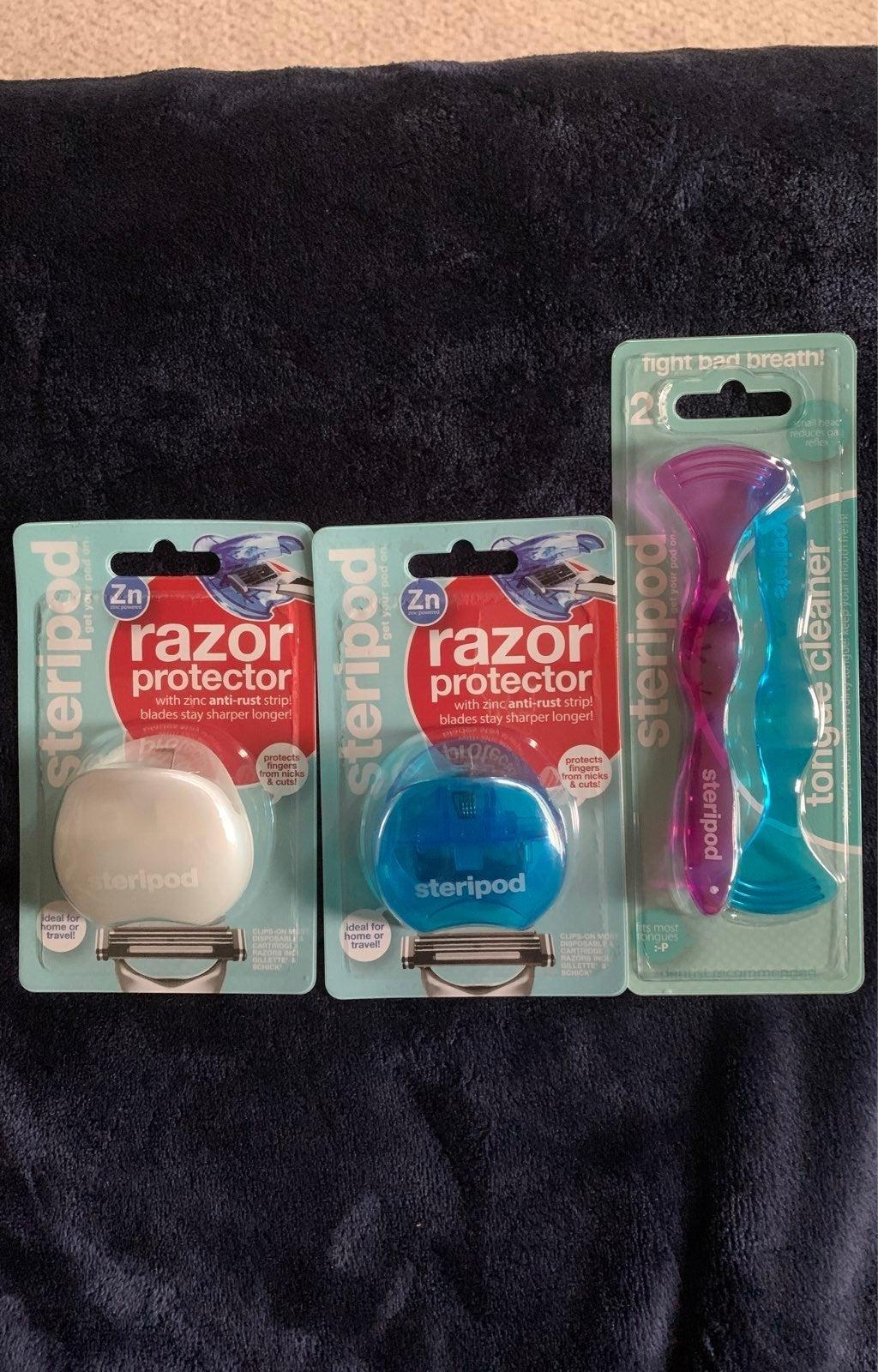 Steripod Razor Protector/Tongue Cleaner