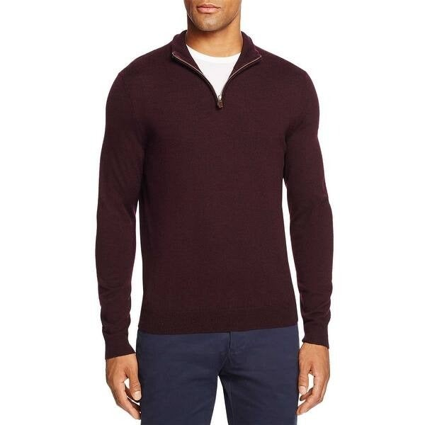 Bloomingdale Quarter-Zip Merino SweaterM