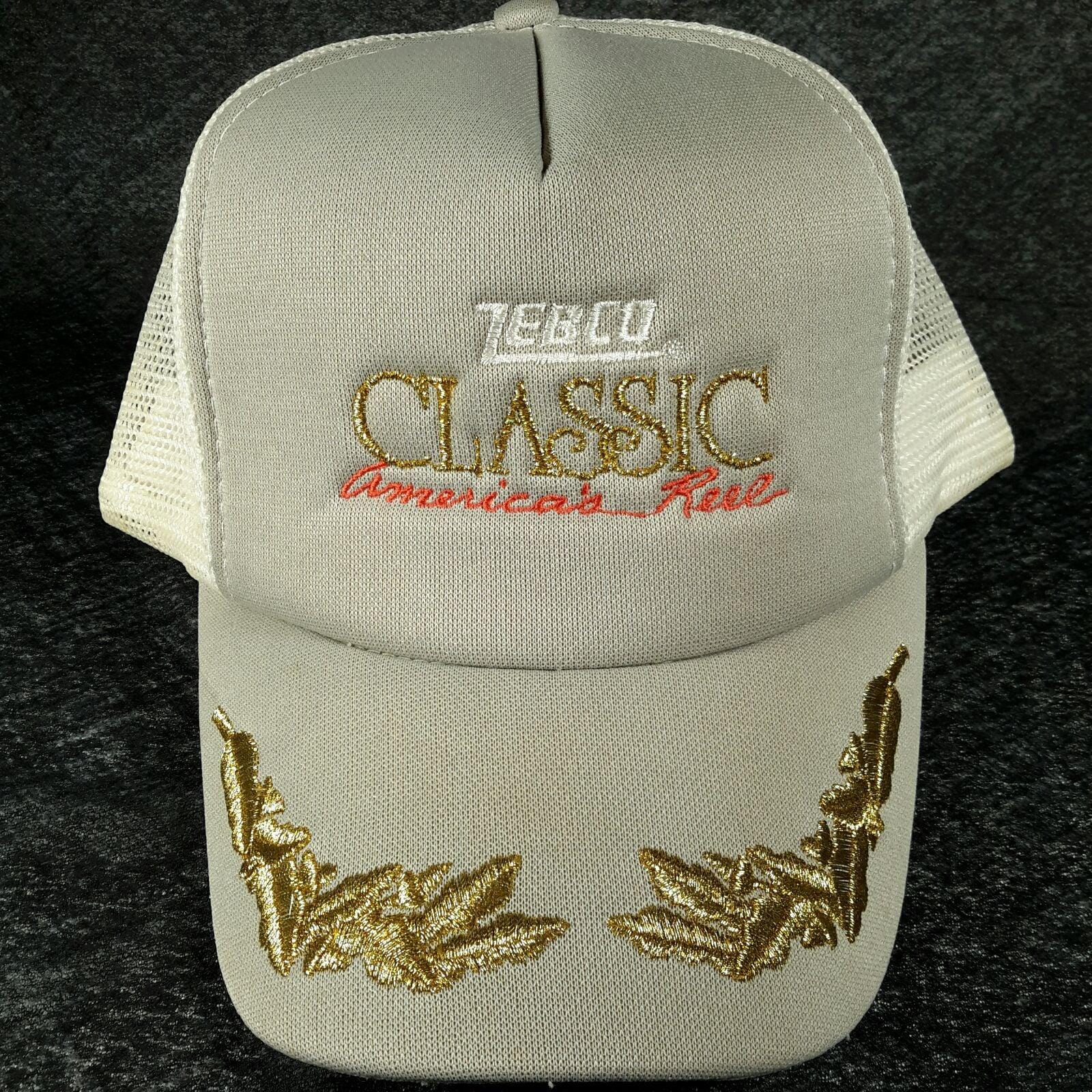 Vtg Zebco Fishing Reels Trucker Hat