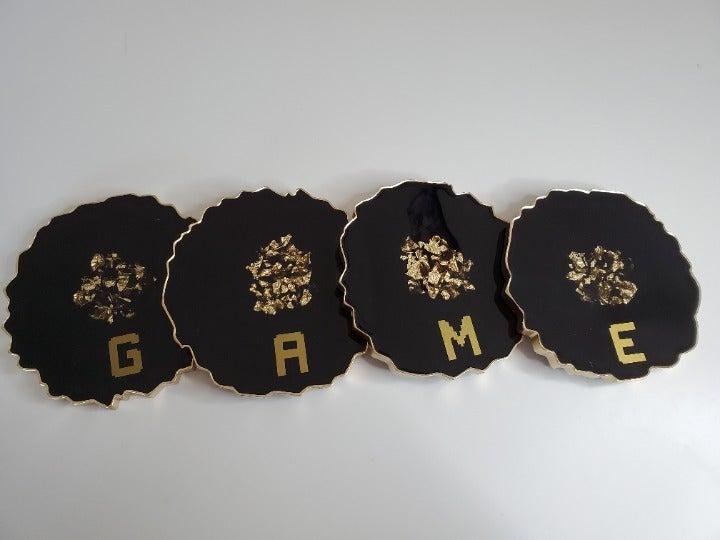 Resin Coaster 4pcs Set (GAME)