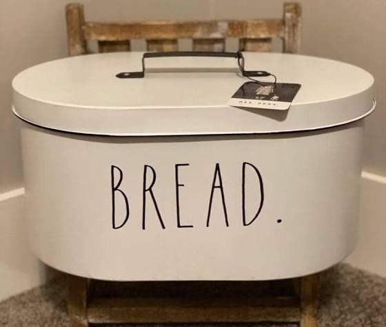 Rae Dunn metal bread box