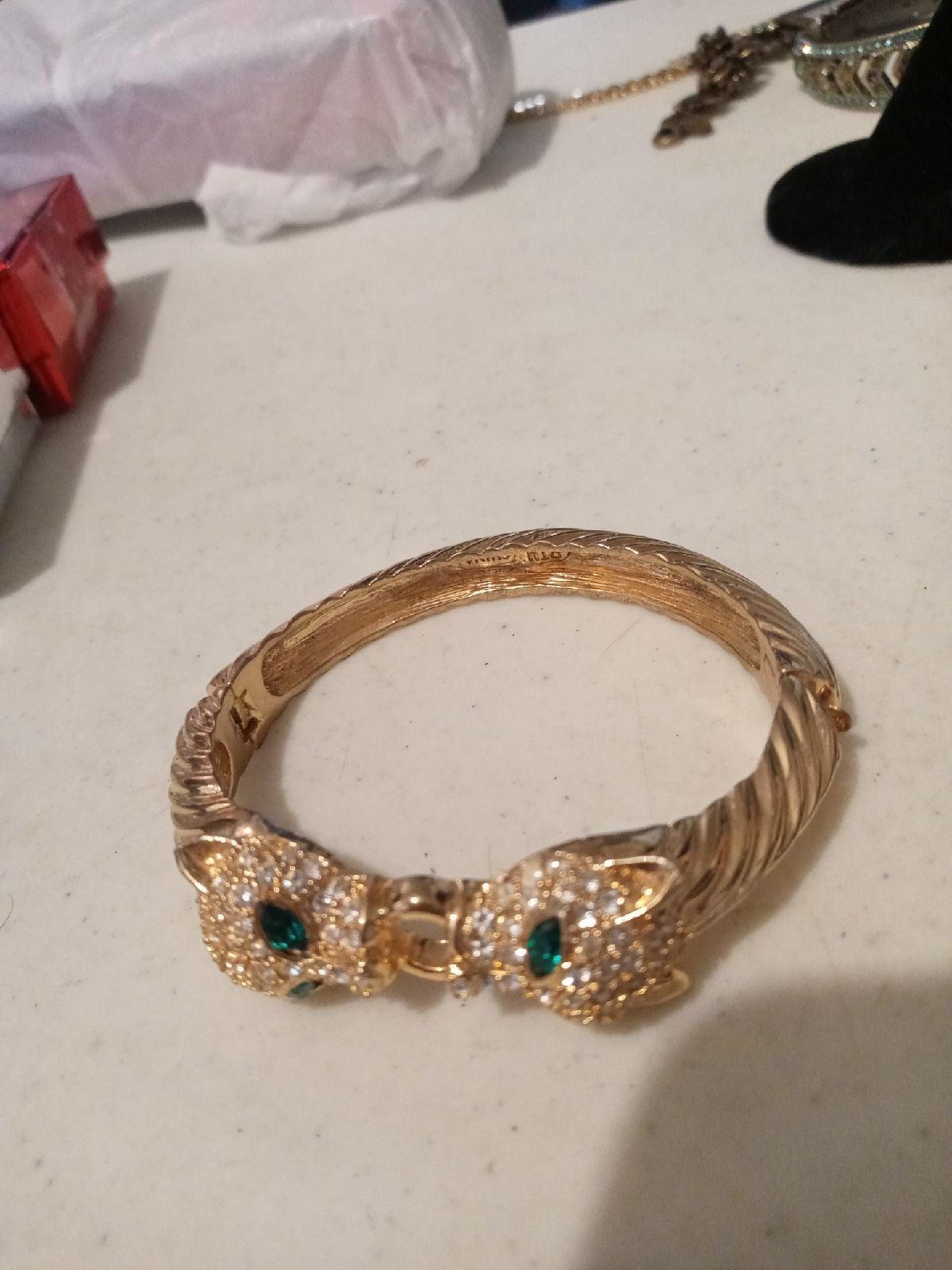 PJM Jaguar Bracelet signed crystal