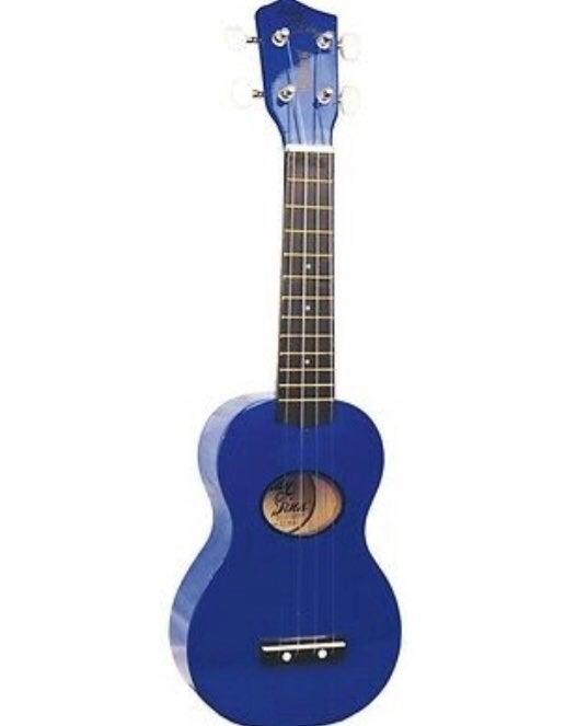 Blue Ukulele Saprano Basswood Ebonized