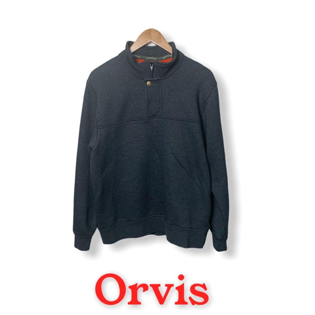 Orvis 1/4 Zipper Pullover Fleece Grey M