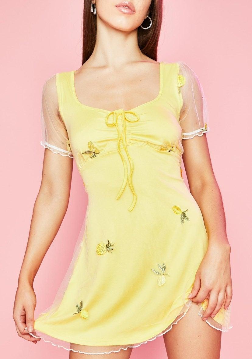 I Got The Juice Babydoll dress from Suga
