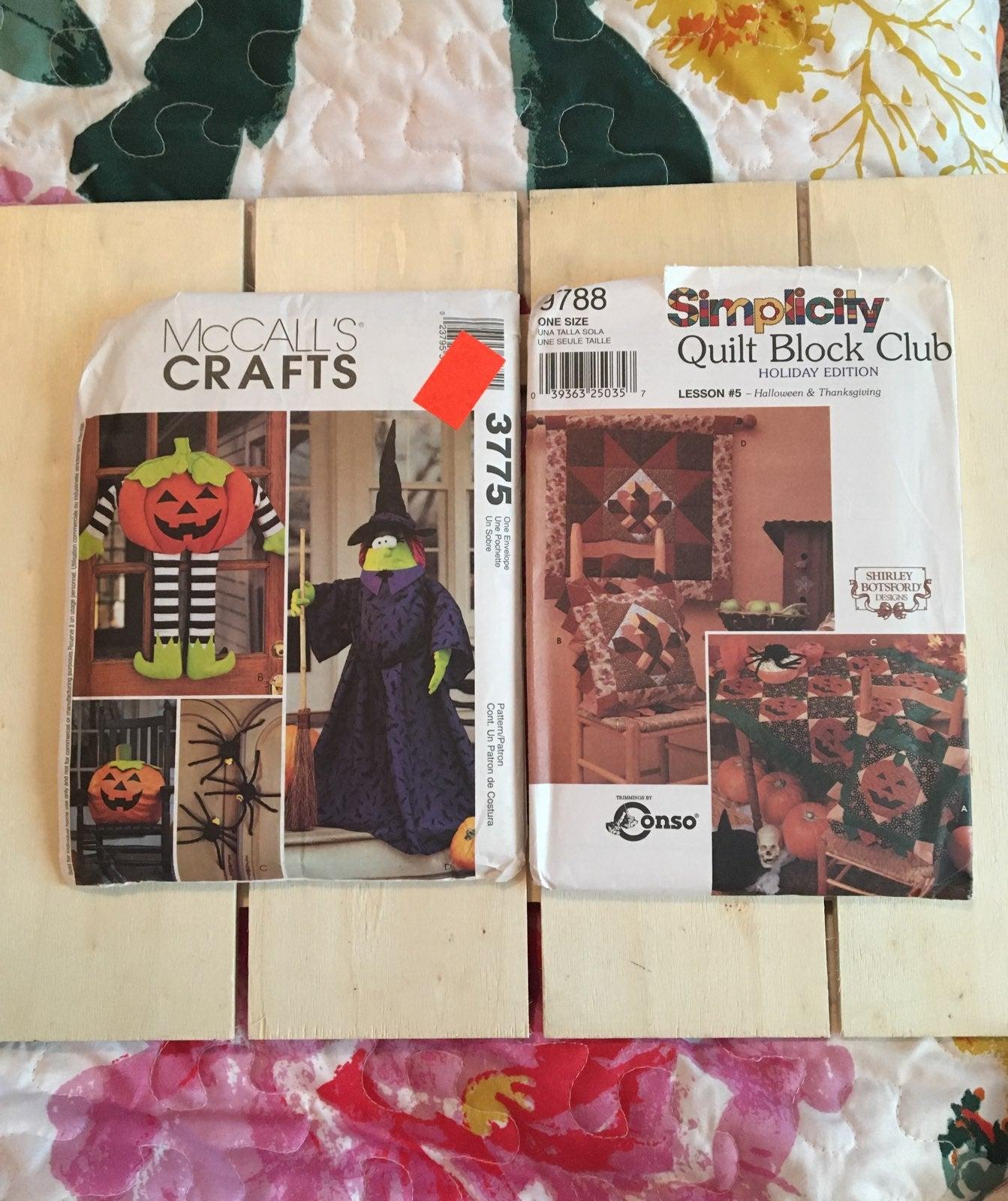 Halloween Fall crafts sewing patterns un