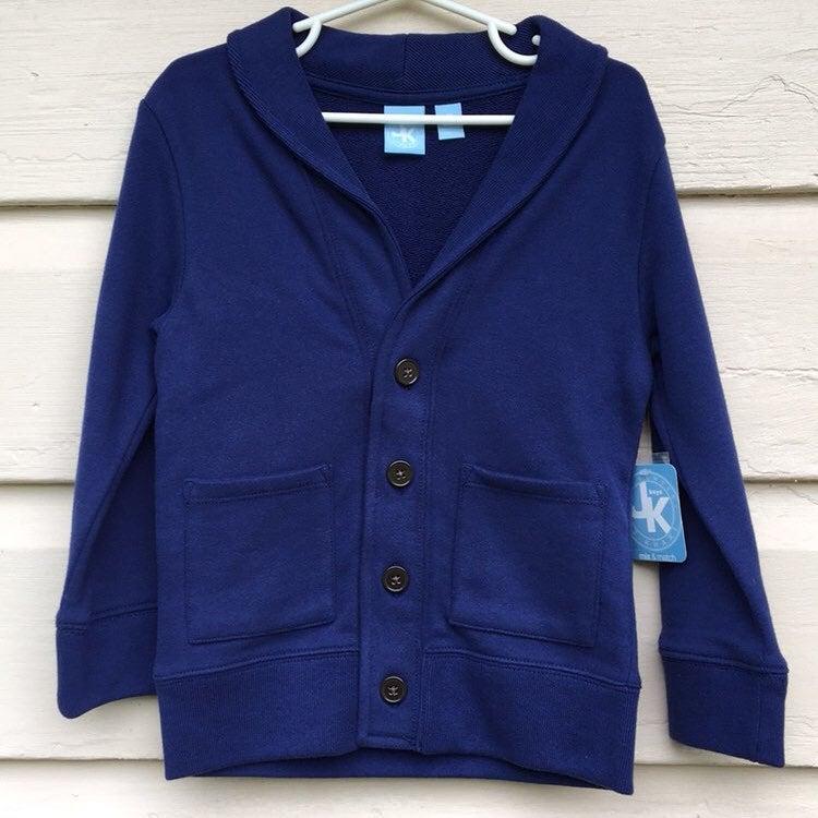 J. Khaki Navy Sweater Cardigan 4T