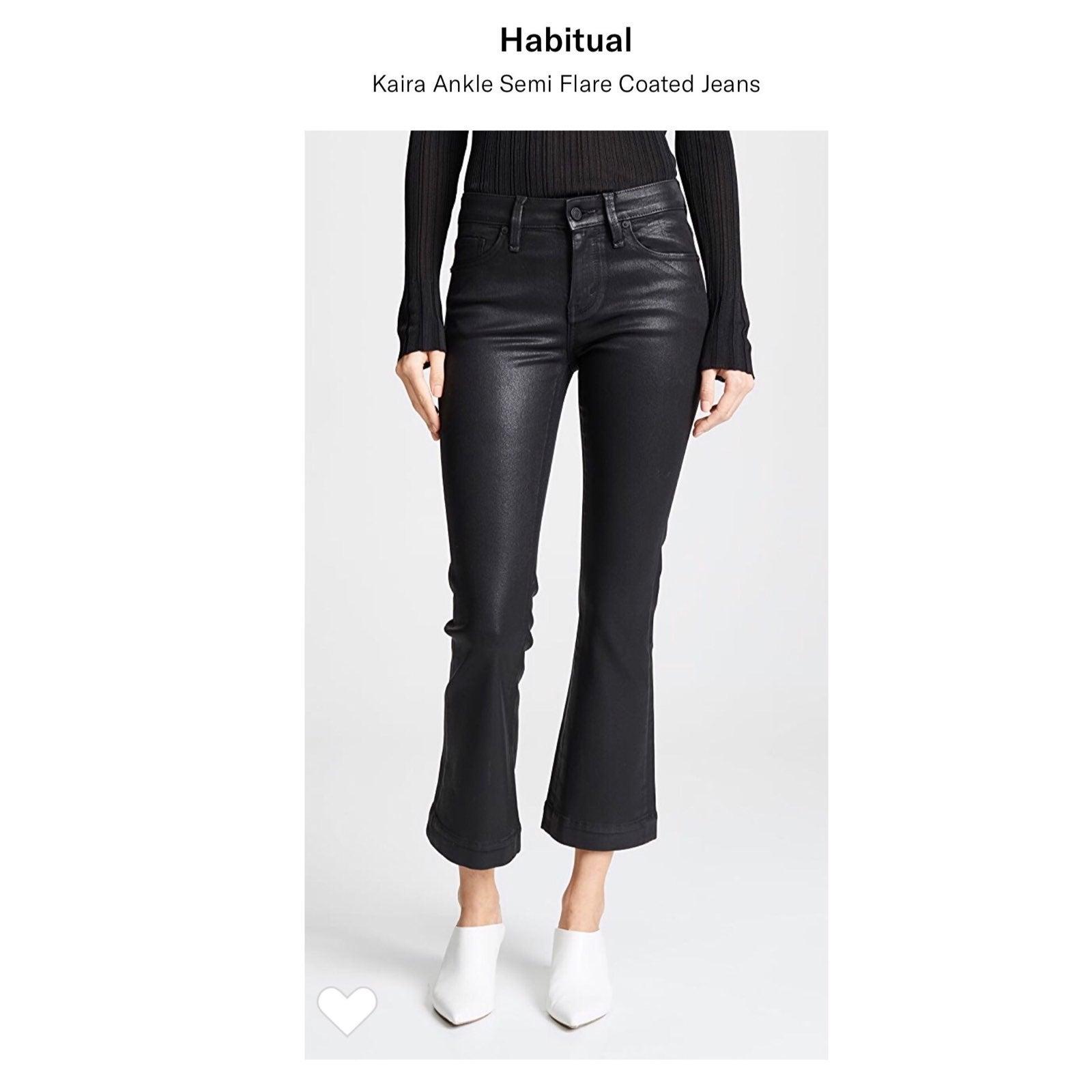 Habitual kaira cropped flared black jean