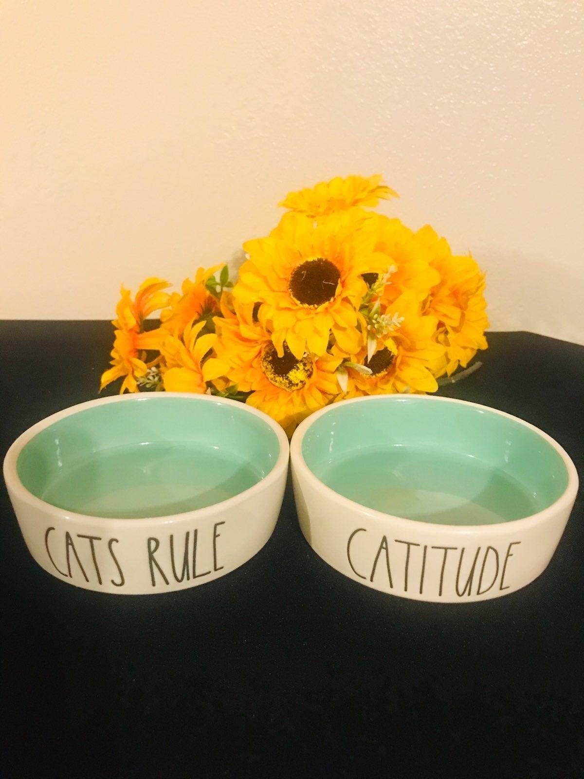 Rae Dunn Cat Bowls 2pc