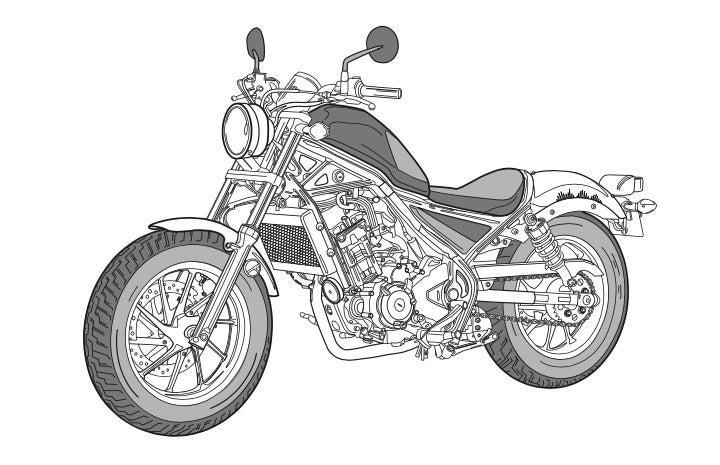 Motorcycle Illustration Print