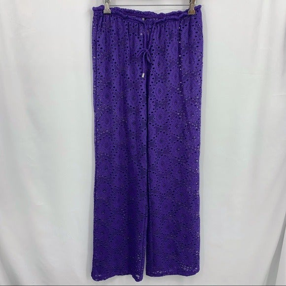 Laundry by Shelli Segal purple coverup