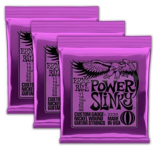 3 SETS ERNIE BALL POWER SLINKY'S 11-48