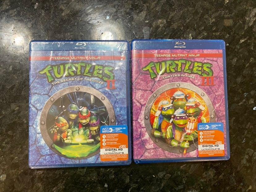 Teenage Mutant Ninja Turtles 2 3 Blu-Ray