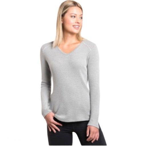 Kuhl Lyrik V-Neck Ash Gray Sweater