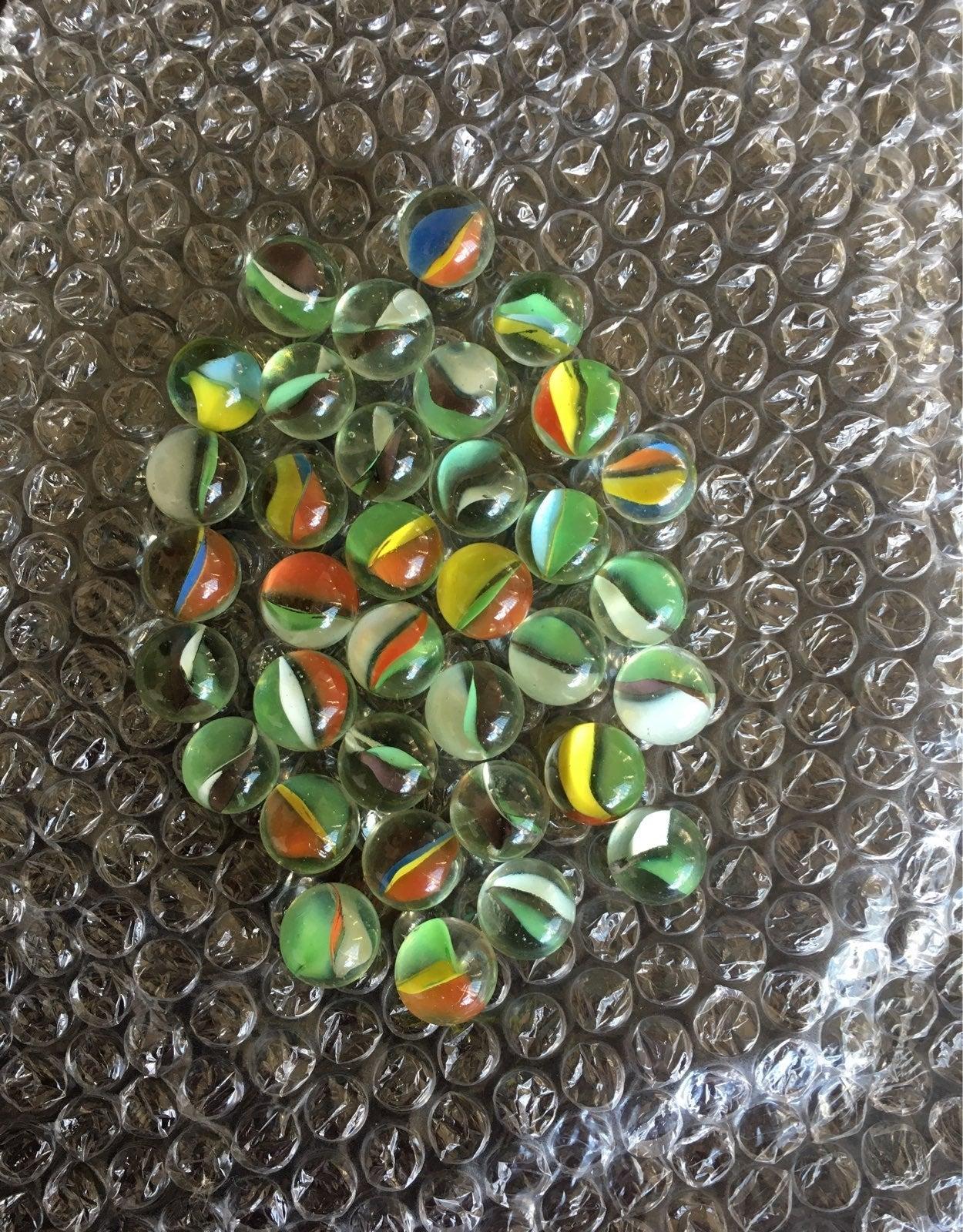33 vintage marbles w/ vintage presto loc