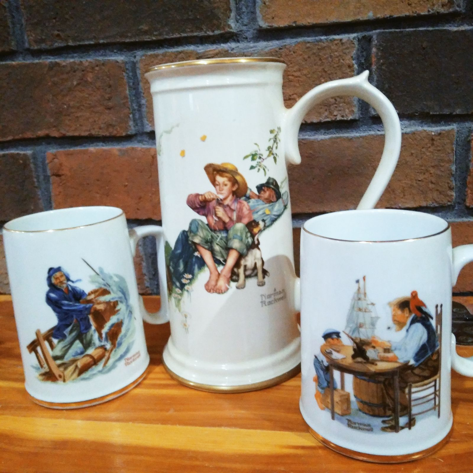 Norman Rockwell Collectible Mug Lot