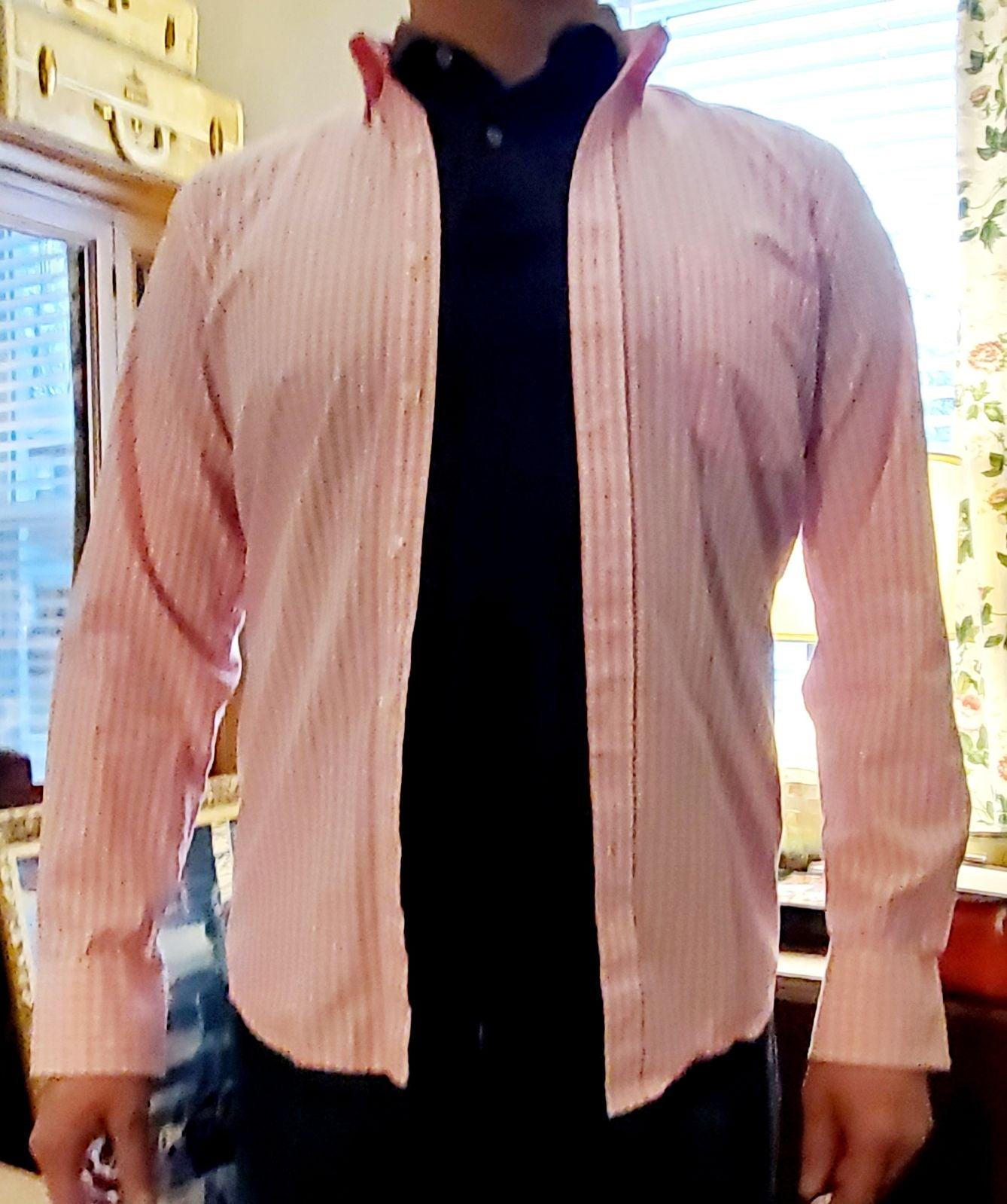 Men's Gingham Izod Button Down Shirt S