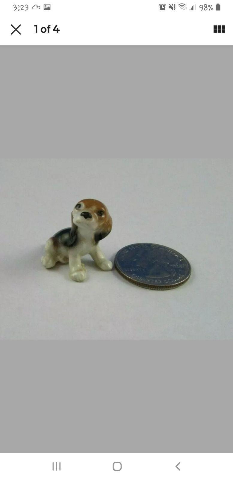 Hagen Renaker Mini Beagle Dog Puppy