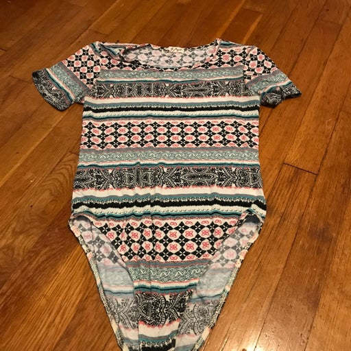 Printed Bodysuit Size Medium
