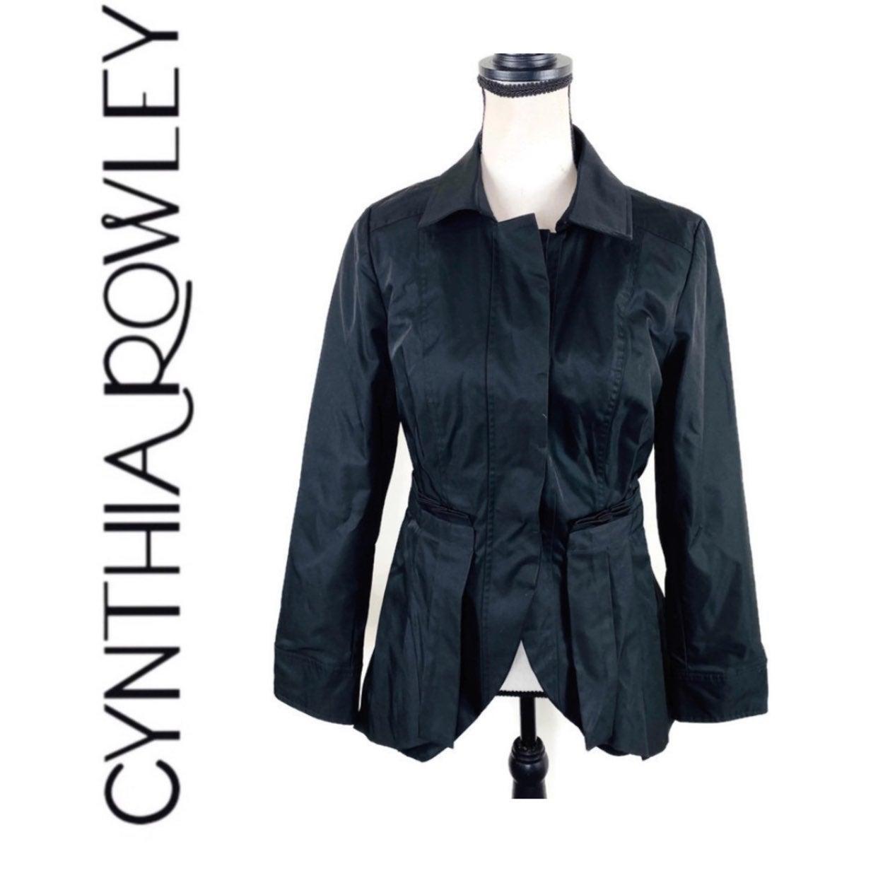 Cynthia Rowley Black Peplum Coat Jacket