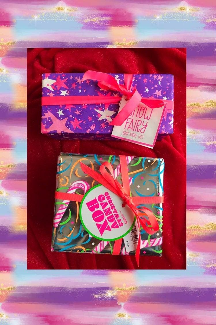 2 Lush wrapped boxes Birthday Christmas