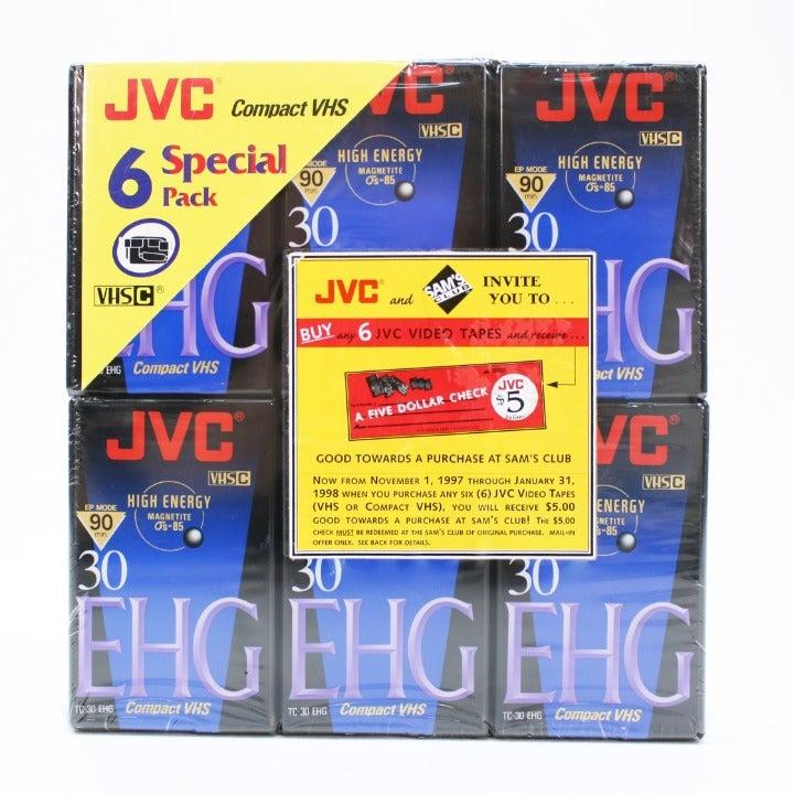 6-JVC VHS-C Compact TC-30 EHG Hi-Fi EP M